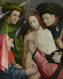 Hieronymus Bosch, living 1474; died 1516 Christ Mocked (The Crowning with Thorns) about 1510 Oil on oak, 73.8 × 59 cm Bought, 1934 NG4744 http://www.nationalgallery.org.uk/paintings/NG4744